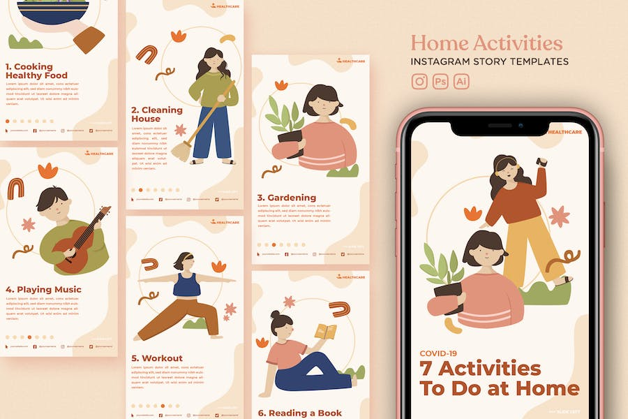 Home Activity Instagram Story Templates