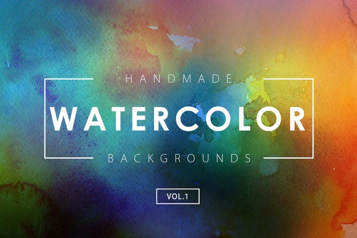 Cover Image For Handmade Watercolor Backgrounds Vol.1