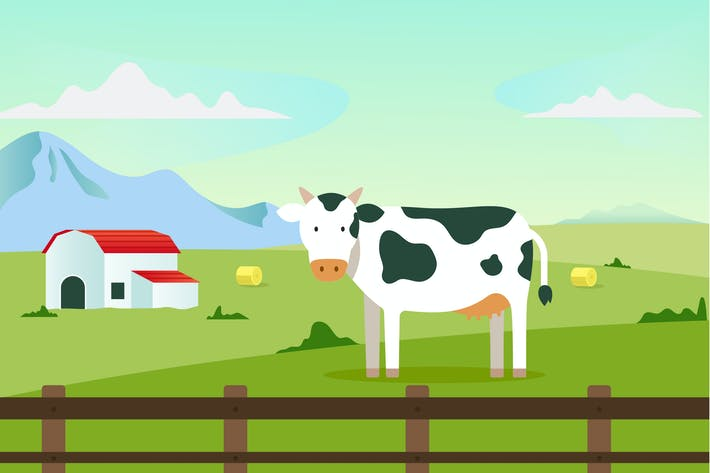 Thumbnail for Cow Illustration