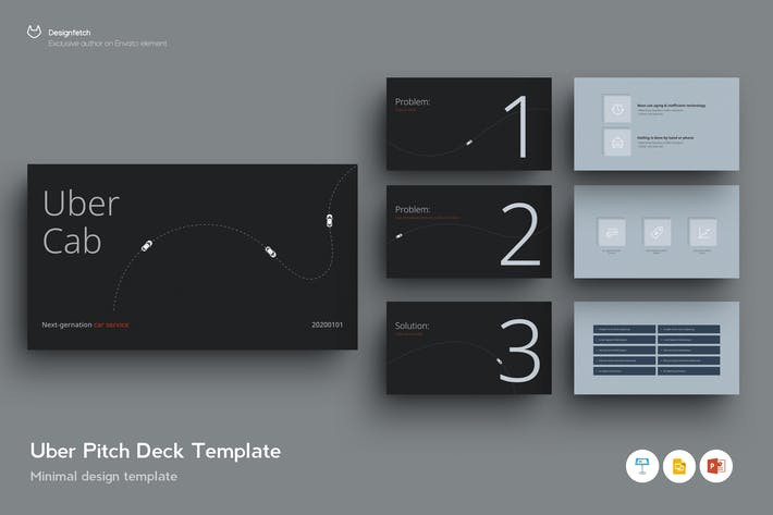 Thumbnail for Pitch Deck Template - Based on UBER