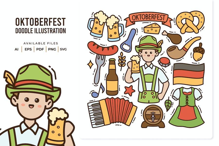Oktoberfest Doodle Illustration