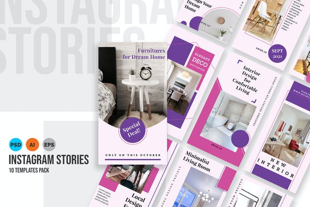 Cozy - Interior Design Instagram Stories Template