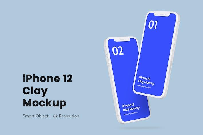 Thumbnail for iPhone 12 Clay Mockup 3.0