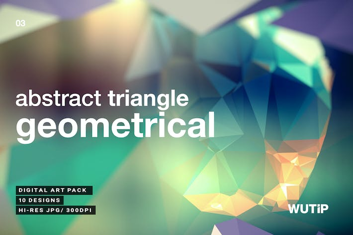 Cover Image For Abstract Triangle Geometrical Background V3
