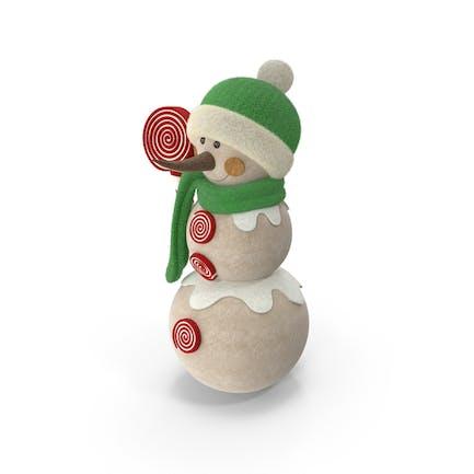 Decoración muñeco de nieve