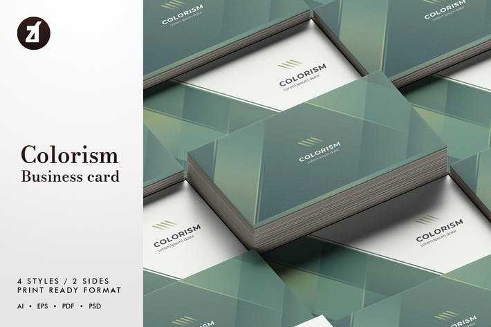 Thumbnail for Colorism - Business card template