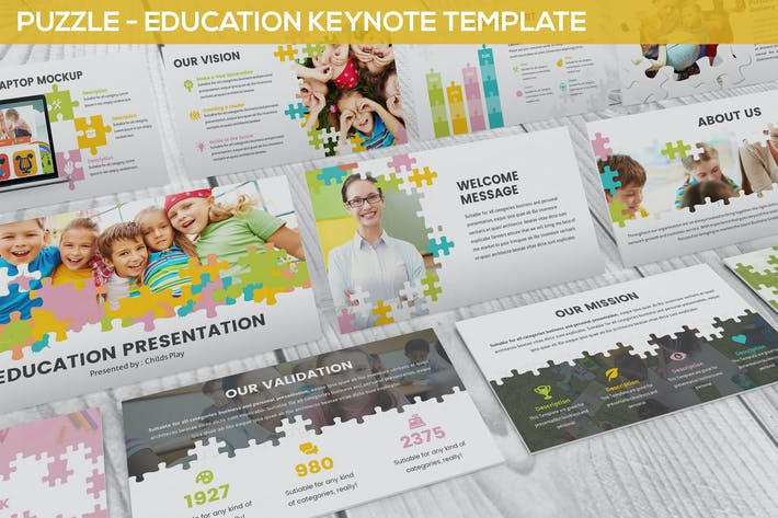 Cover Image For Puzzle - Education Keynote Template