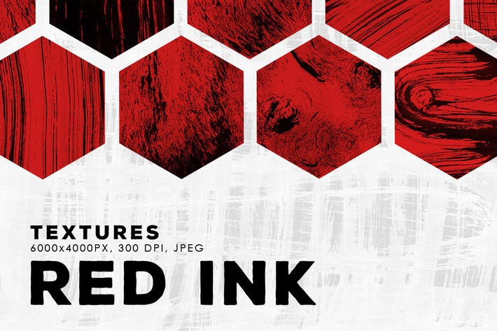 Thumbnail for Red Abstract Ink Textures