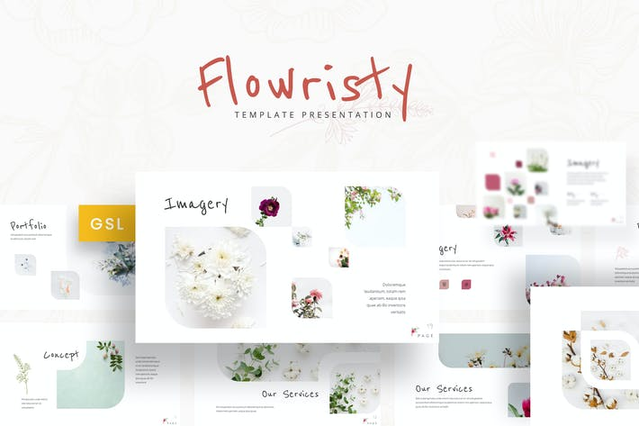 Flowristy - Google Slides Template