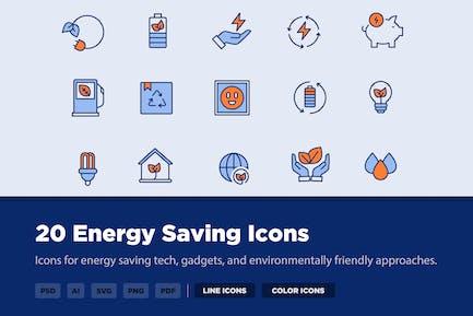 20 Energiesparsymbole