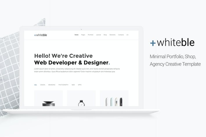 Thumbnail for Whiteble - Minimal &Clean Portfolio, Agency, Shop