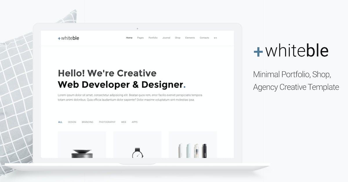 Download Whiteble - Minimal &Clean Portfolio, Agency, Shop by puredesignThemes
