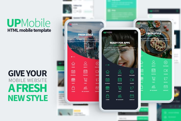 Thumbnail for UpMobile - Html Mobile Template