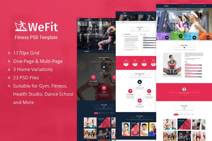 Thumbnail for WeFit | Health & Fitness PSD Template
