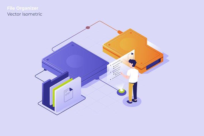 Thumbnail for File Organizer - Vector Illustration