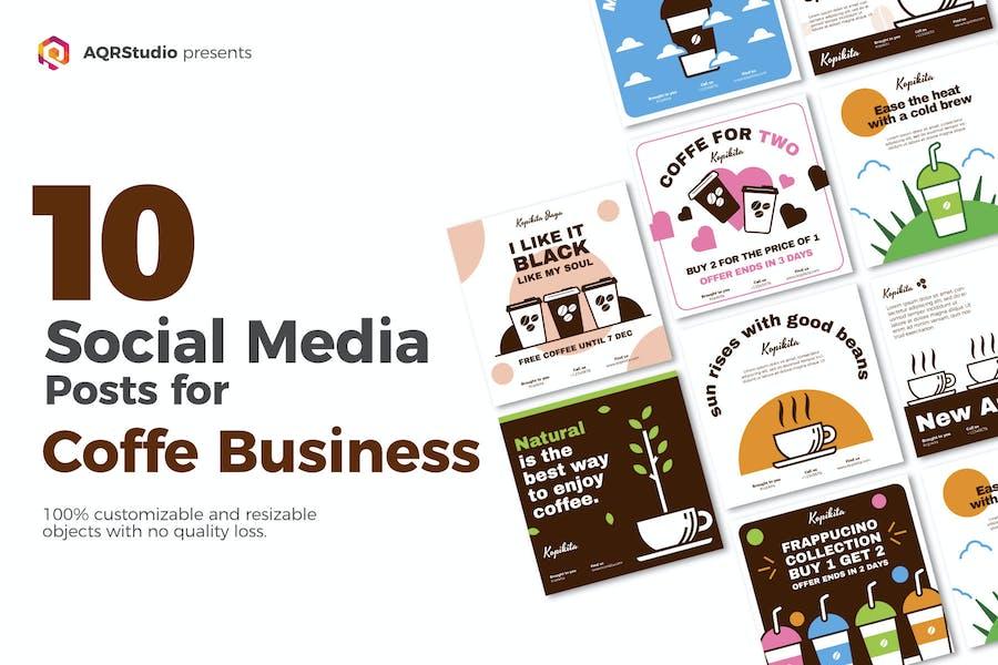 Social Media Kaffee Lecker