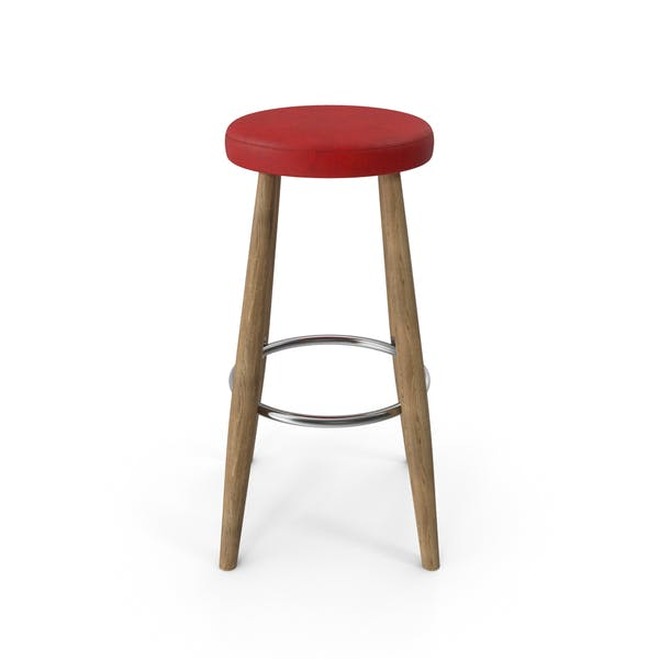 Bar Stool Red