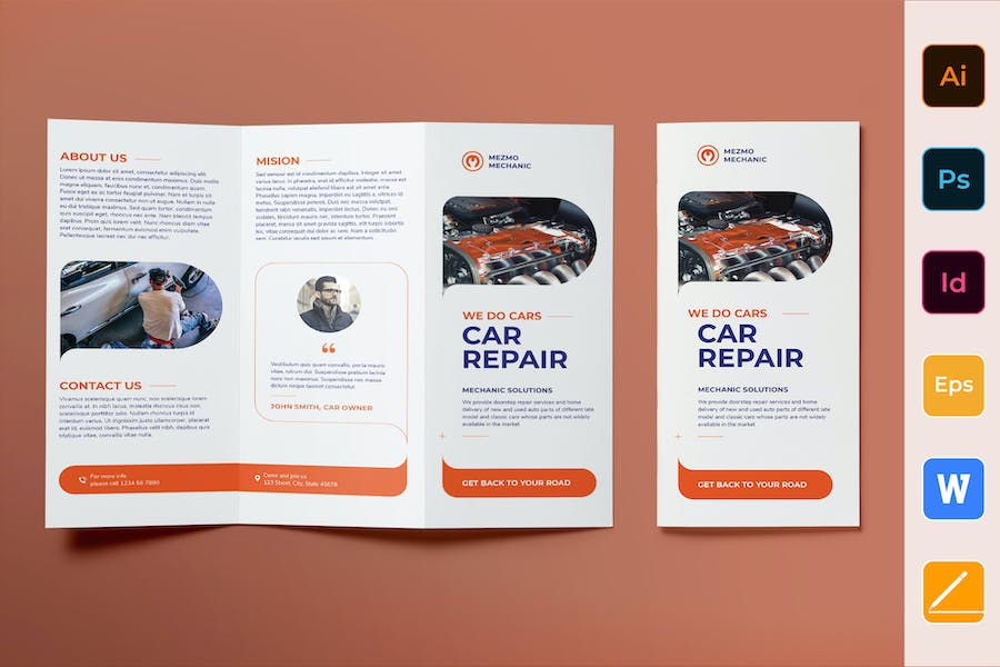 Car Repair Brochure Trifold