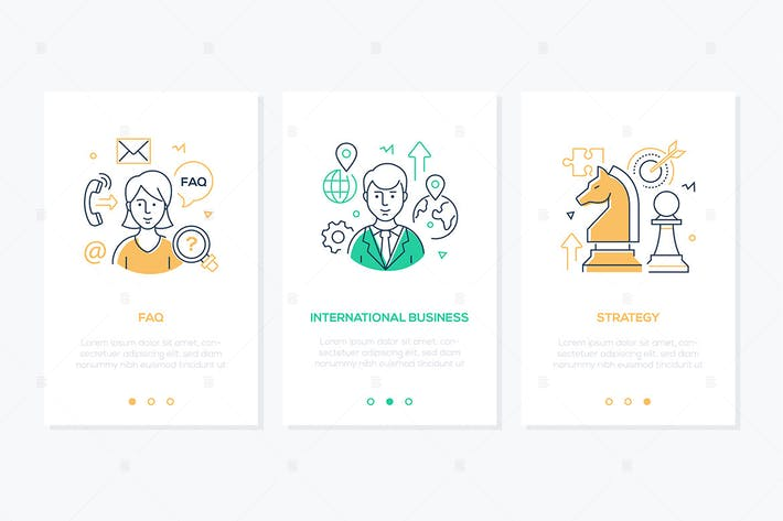 Thumbnail for Business and finance - line design style banners