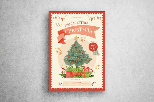Special Offer Christmas Flyer Template