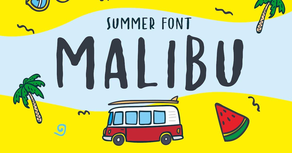 Download MALIBU - Carefree Handwriting Font by alexacrib