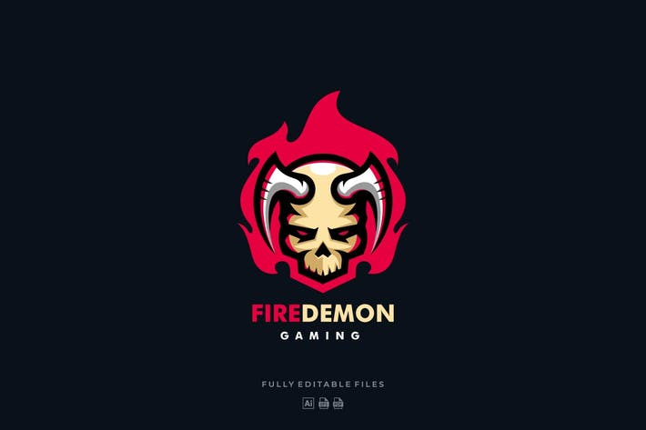 Thumbnail for Fire Demon Sports and E-sports Style Logo
