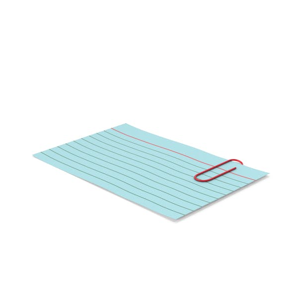 Index Card Blue With Paper Clip