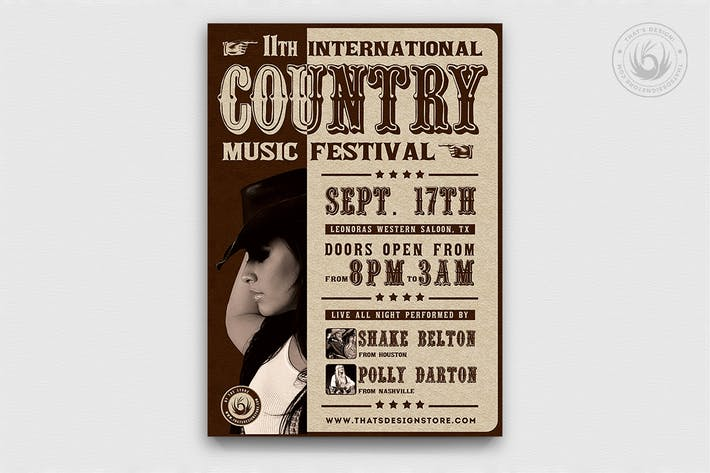 Thumbnail for Country Live Flyer Template V7
