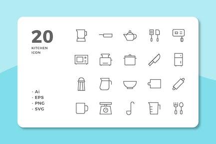 20 KüchenIcons (Linie)