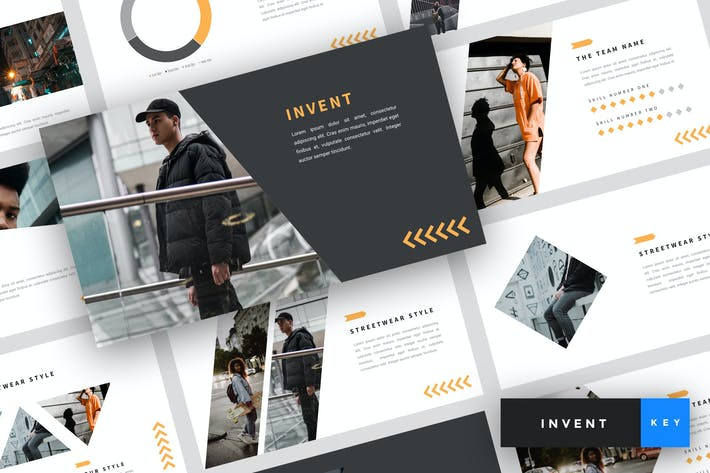 Thumbnail for Invent - Street Fashion Keynote Template