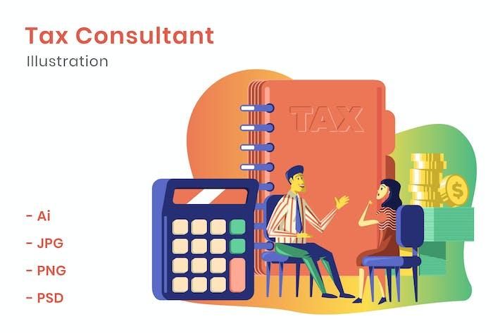 Thumbnail for Ilustración de asesor fiscal