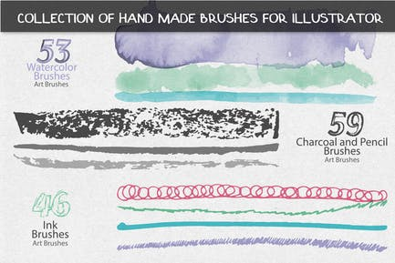 Collection of Hand Made Brushes