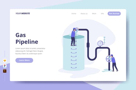 Gas Pipeline - Landing Page
