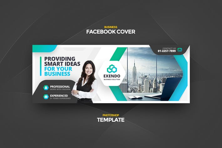 Thumbnail for Exendo Business Facebook Cover Template