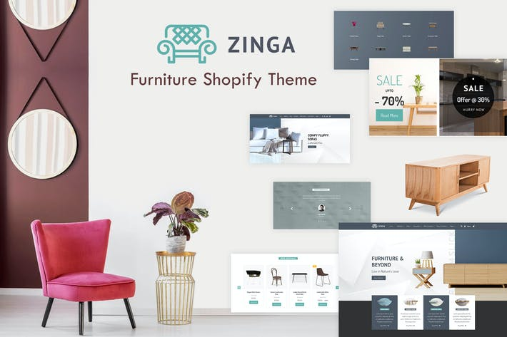 Thumbnail for Zinga | Furniture Shopify Theme