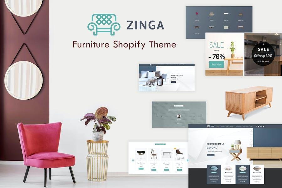 Zinga | Furniture Shopify Theme