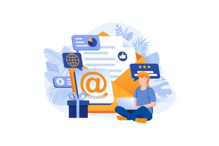 Email Marketing - Flat Concept