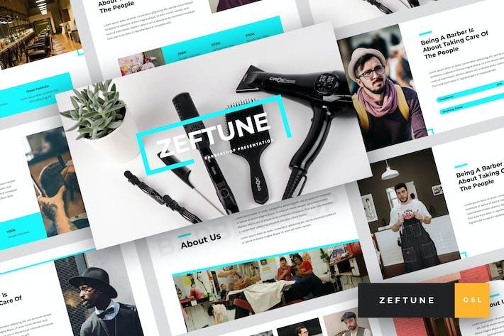 Zeftune - Barbershop Google Slides Template