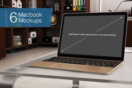 Laptop Mockup - 6 Poses