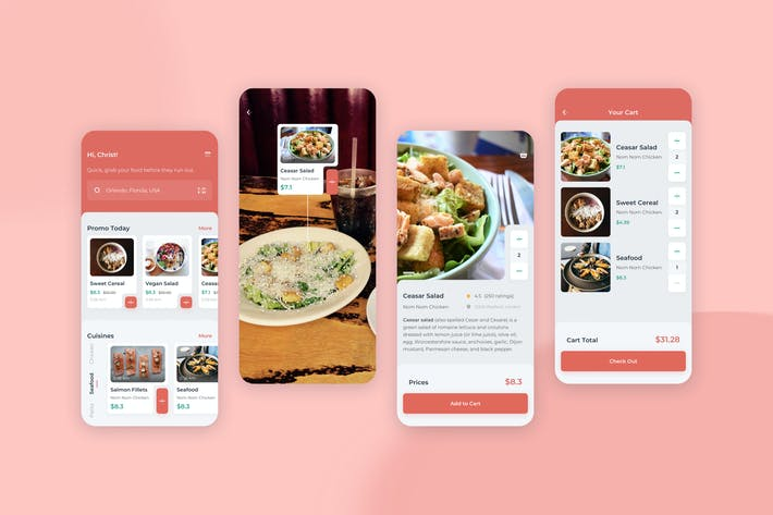 Thumbnail for Order Food Mobile UI - FD