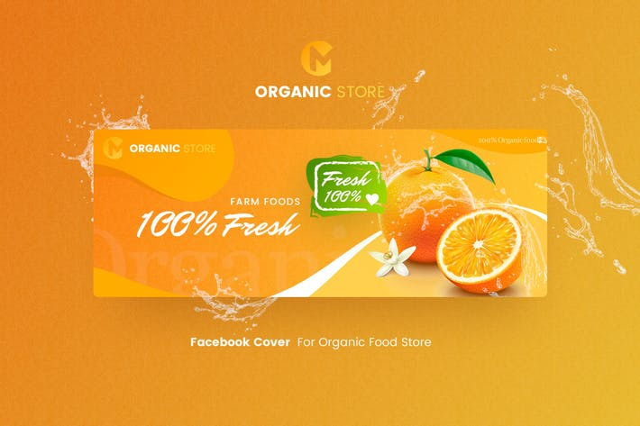 Thumbnail for Organic Store - Facebook Cover Template