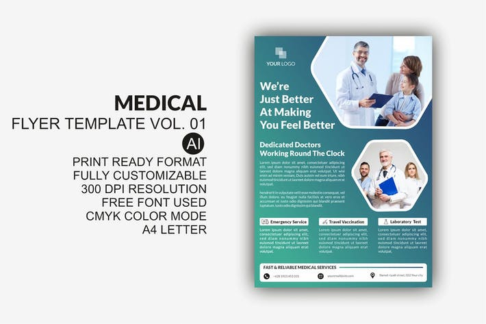 Thumbnail for Medical Flyer Template Vol. 01
