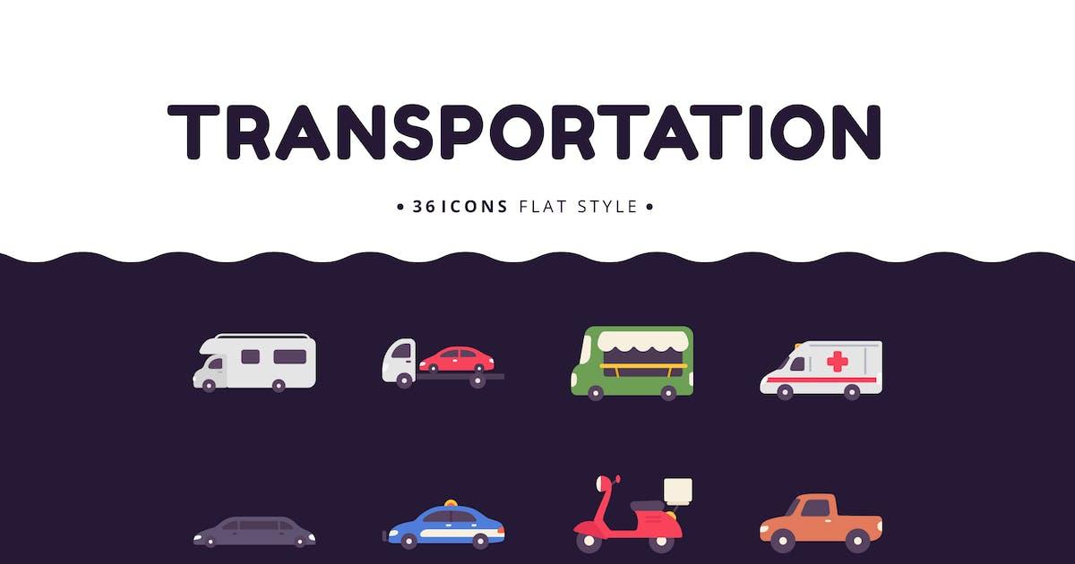 Download 36 Transportation Elements Flat Style by Victoruler