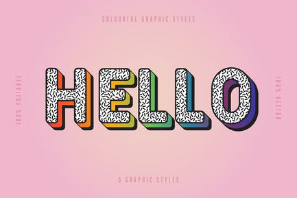 Greeting and Thanking Text Effect Set