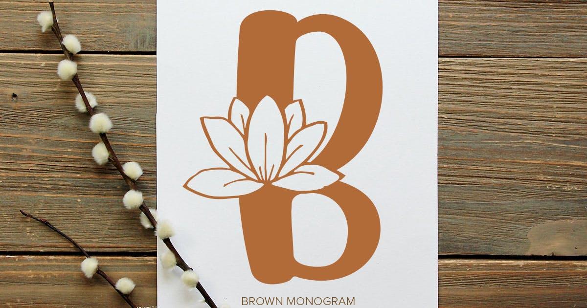 Download Brown Monogram Font by YumnaStudio