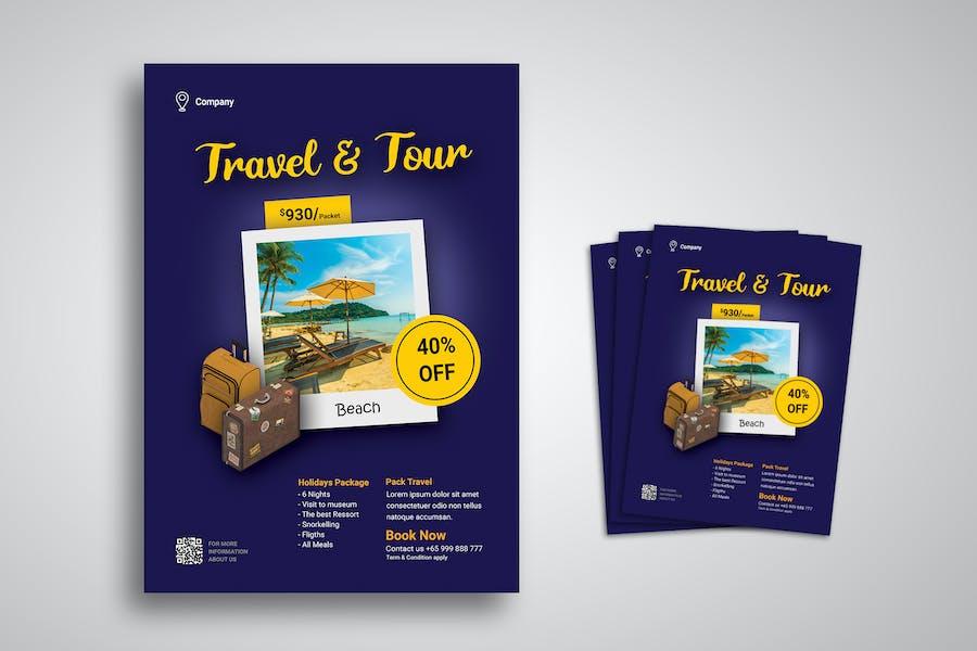 Promo-Vorlage für Reise- und Tour-Flyer