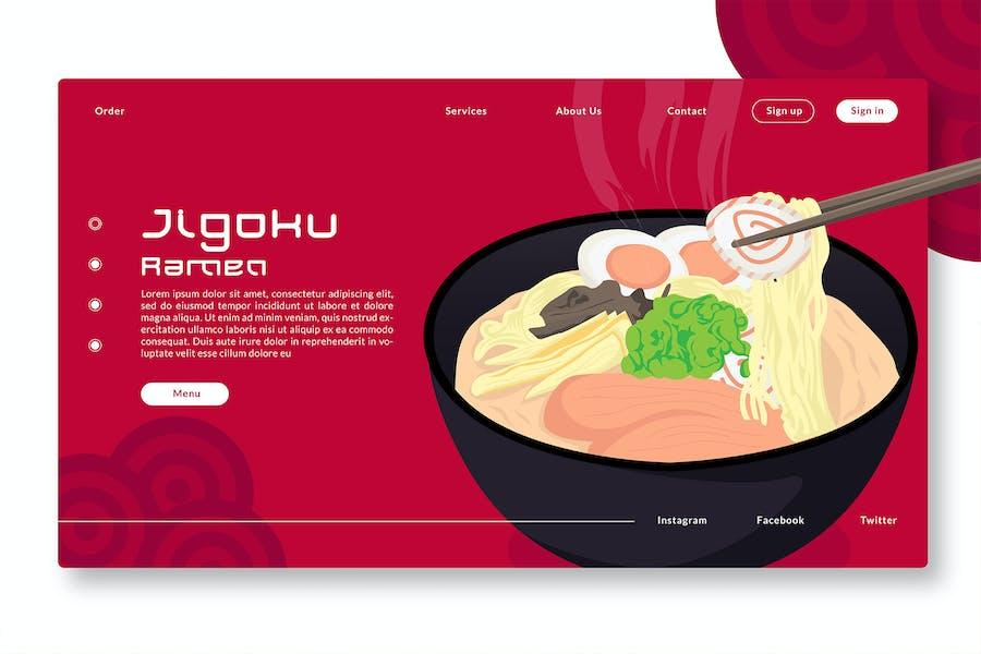 Jigoku Ramen - Web Header & Vector Illustration GR