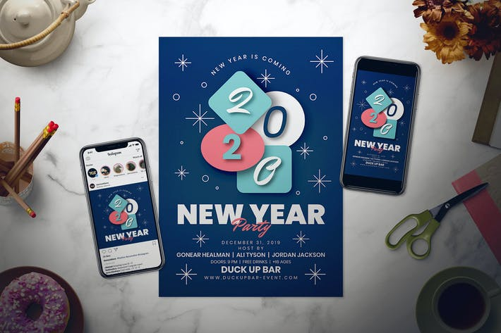 Thumbnail for New Year Flyer Set