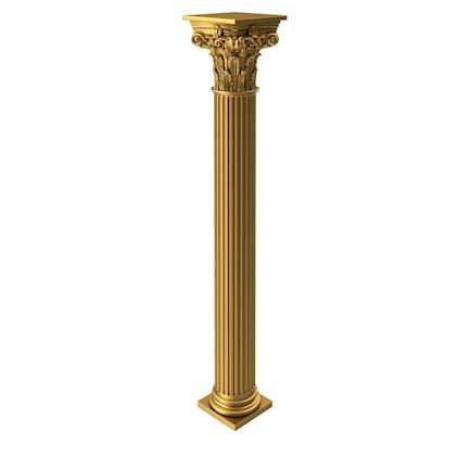 Goldene korinthische griechische alte Säule
