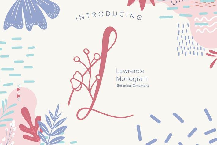 Laurence Monogram Font